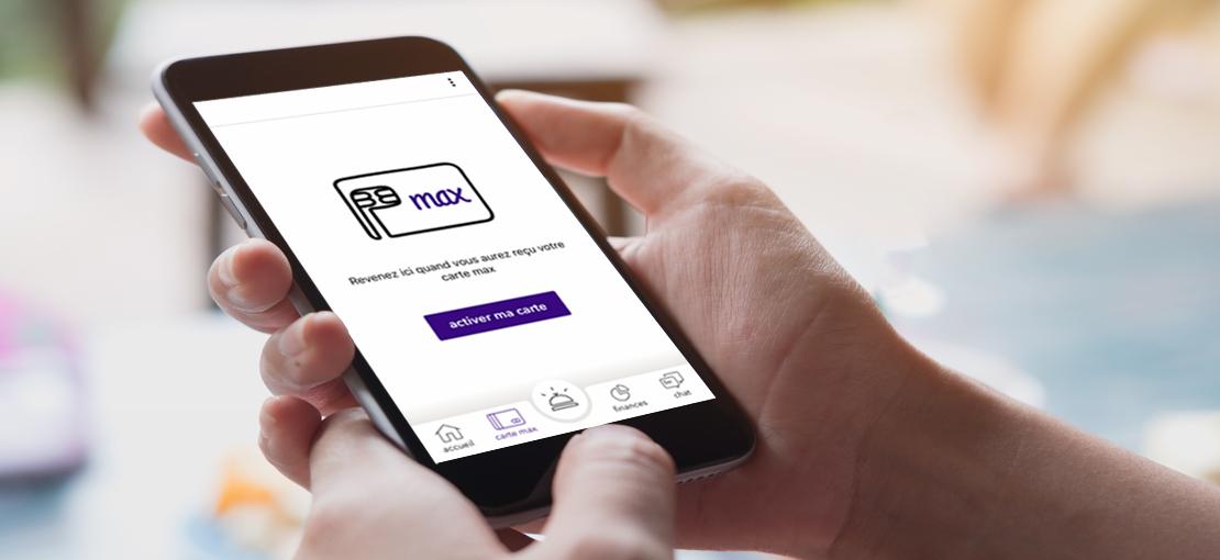 mobile avec application mobile max activation carte